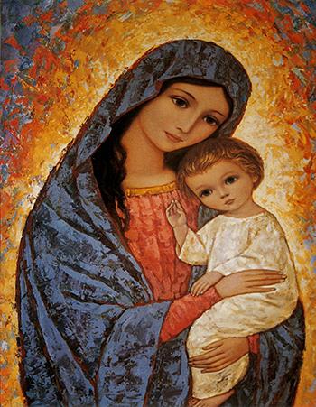 María con el niño