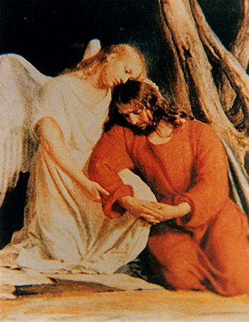 Jesús es consolado por Ángel